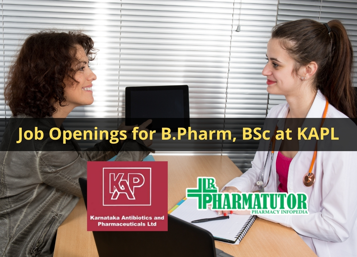 Job Openings for B.Pharm, BSc at KAPL
