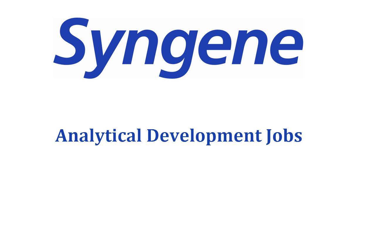 Analytical Development Jobs at Syngene International Ltd | M.Pharm, MSc