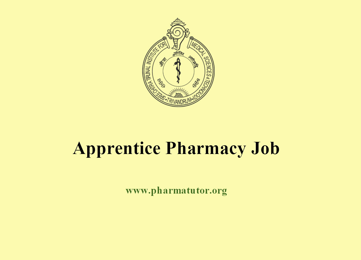 Vacancy for Apprentice Pharmacy at SCTIMST