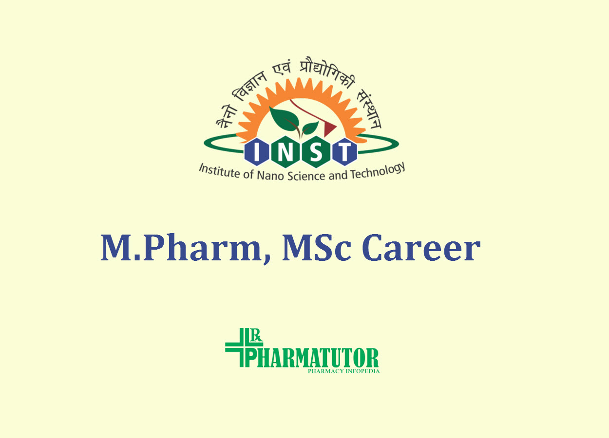 Career for M.Pharm, MSc under SERB funded project at INST