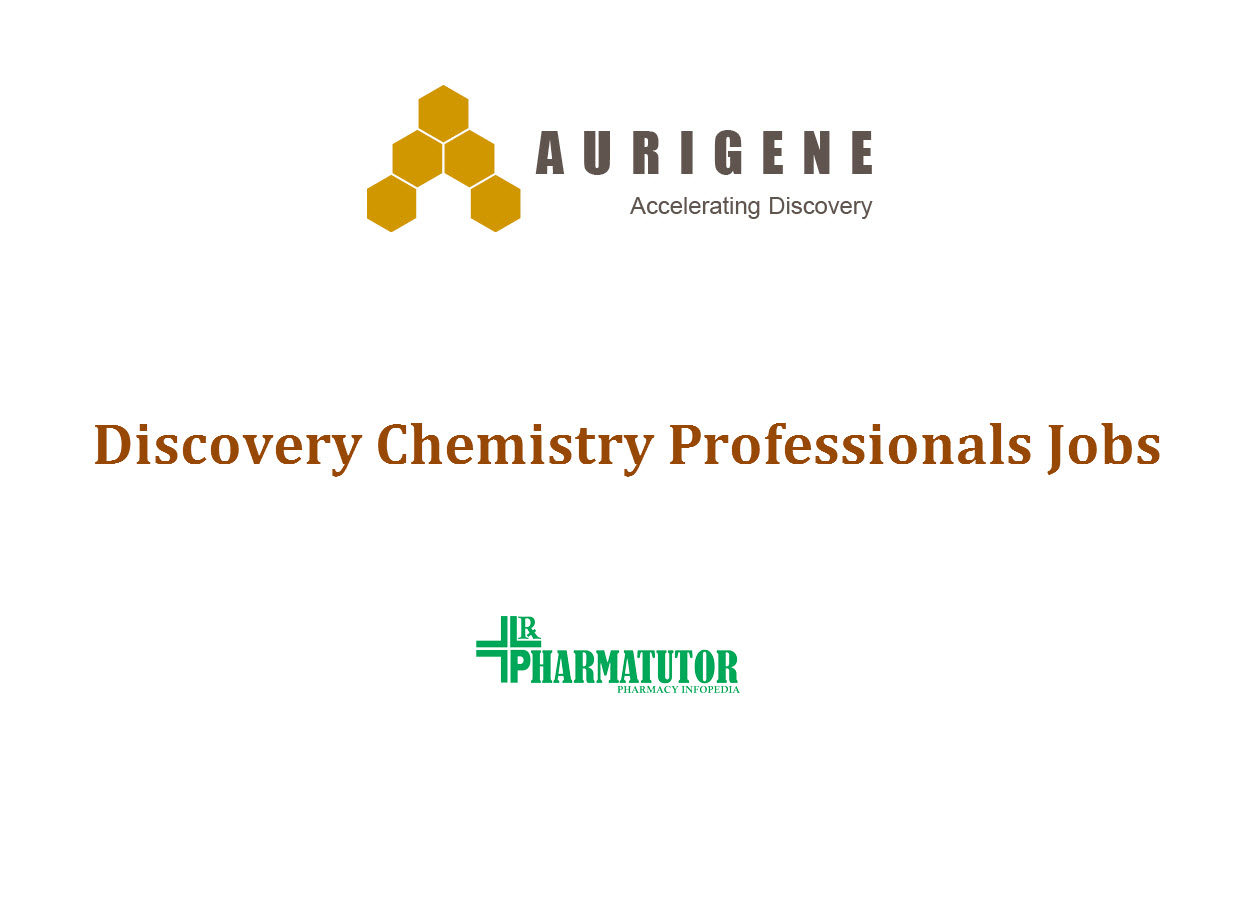 Discovery Chemistry Professionals Jobs at Aurigene | M.Pharm, MSc apply