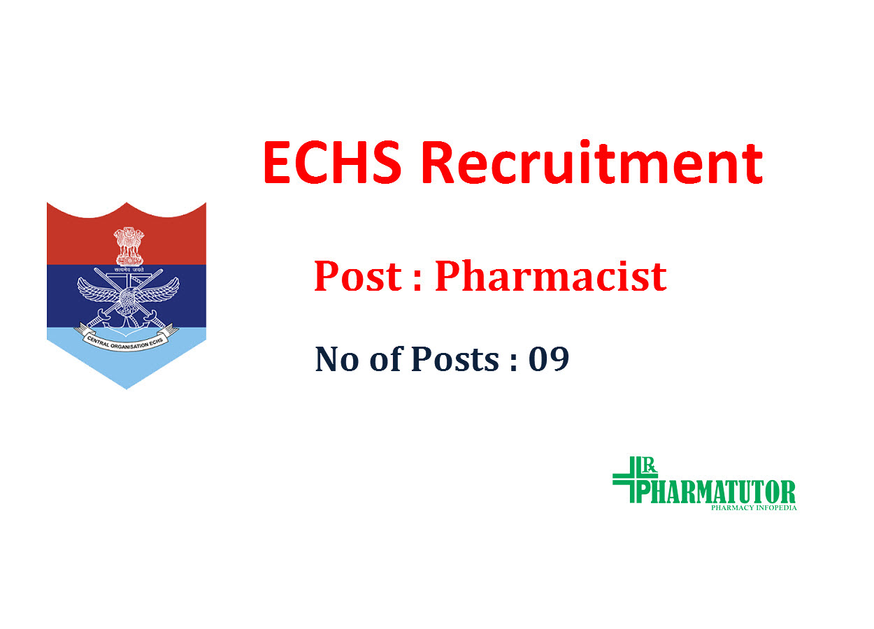 Recruitment for Pharmacists(09 posts) in ECHS Polyclinics