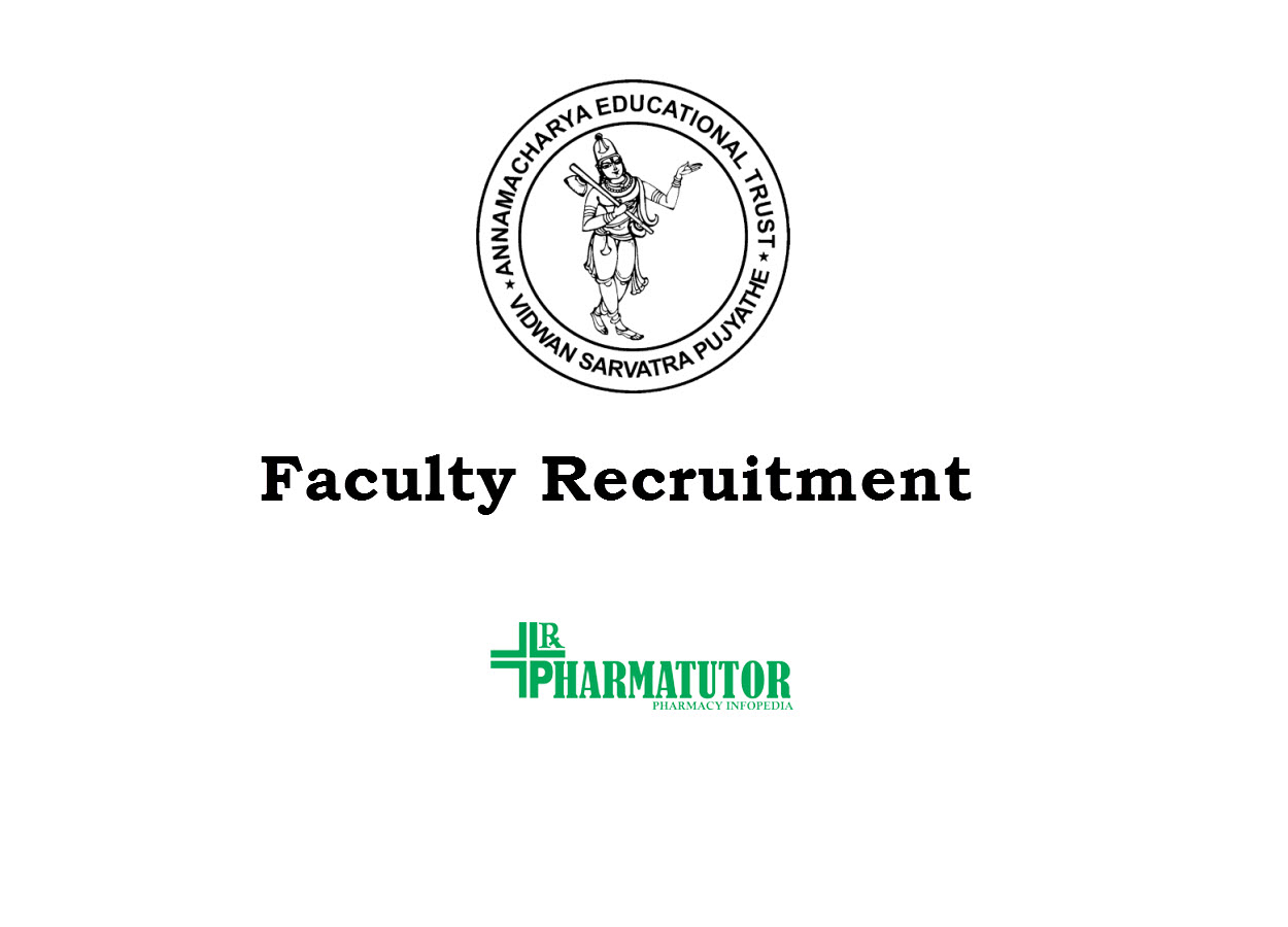 Faculty Recruitment in Annamacharya College of Pharmacy