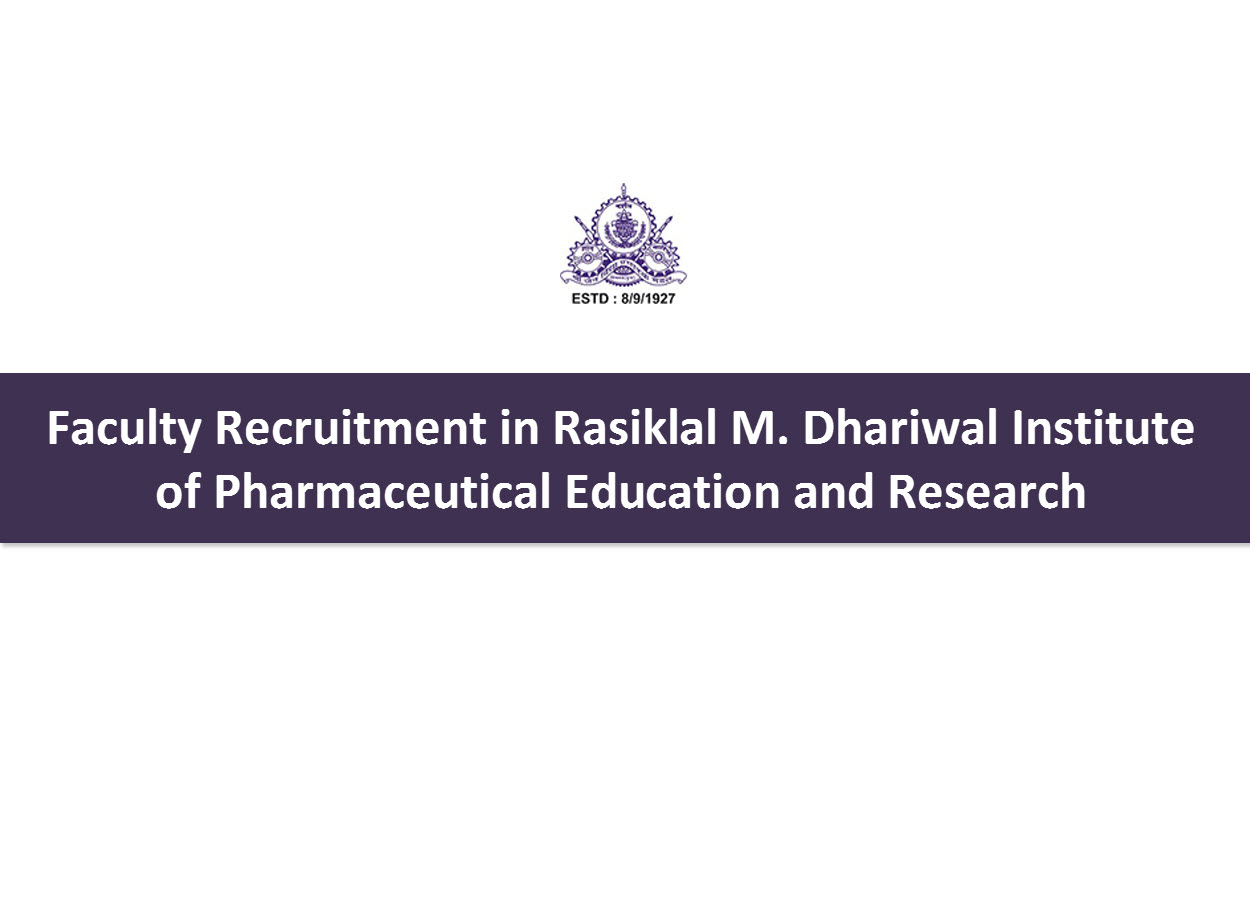 faculty recruitment in rmdiper