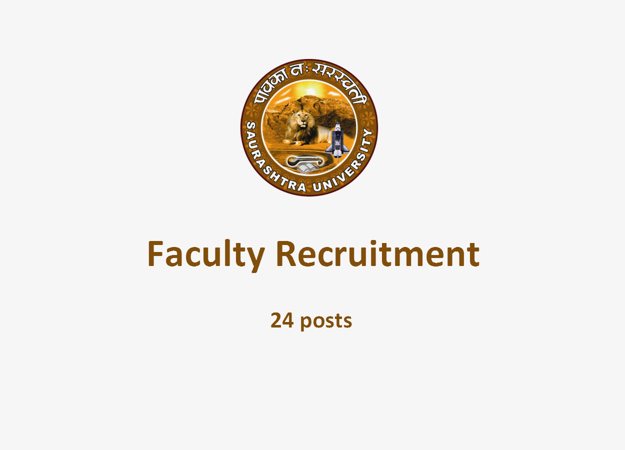 Faculty Recruitment in Saurashtra University | 24 posts