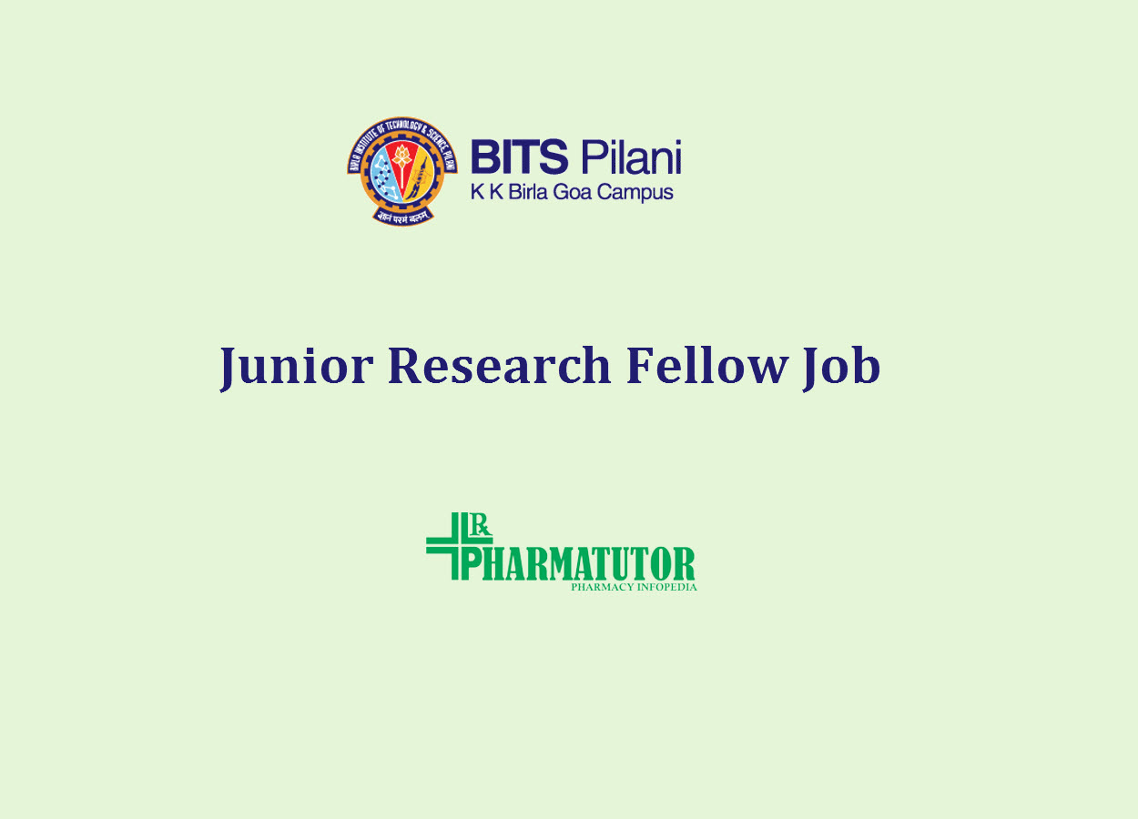 Job for Junior Research Fellow at BITS