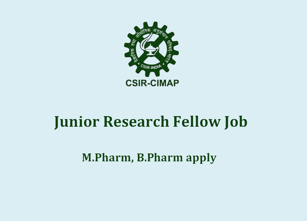 Vacancy for Junior Research Fellow at CIMAP