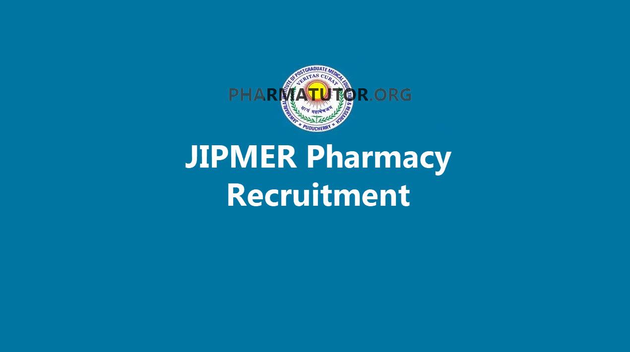 JIPMER Pharmacy Job