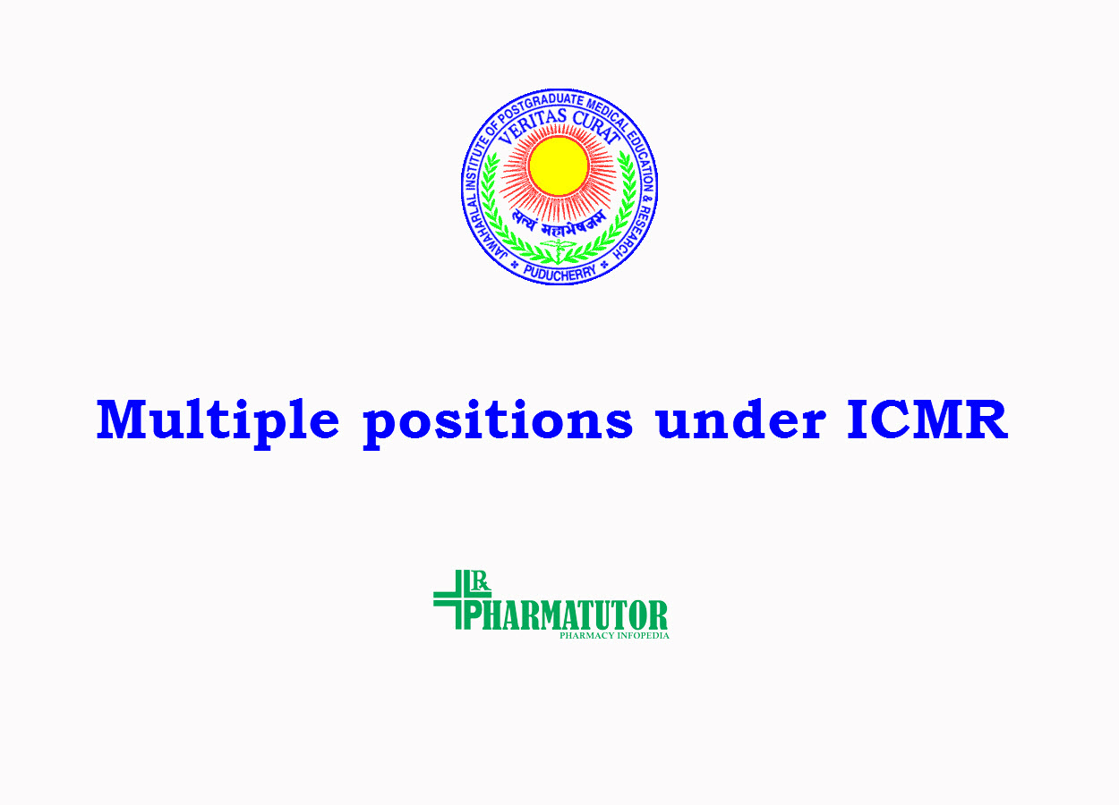 multiple positions under ICMR sponsored RESTORE clinical trail