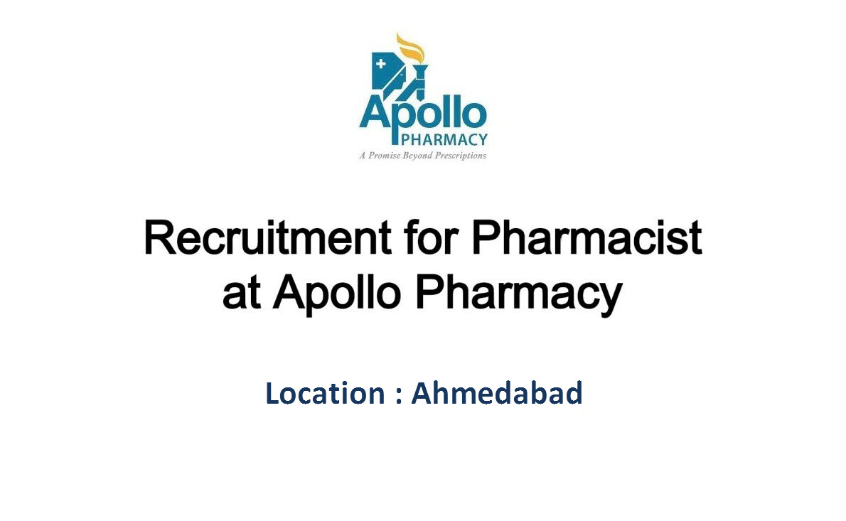 Openings for Pharmacists (15 posts) at Apollo Pharmacy