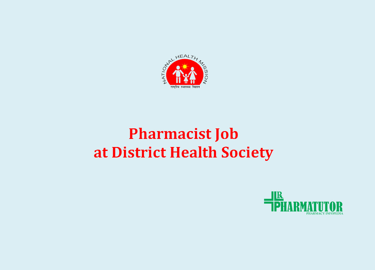 Job for Pharmacist at District Health Society, Dang