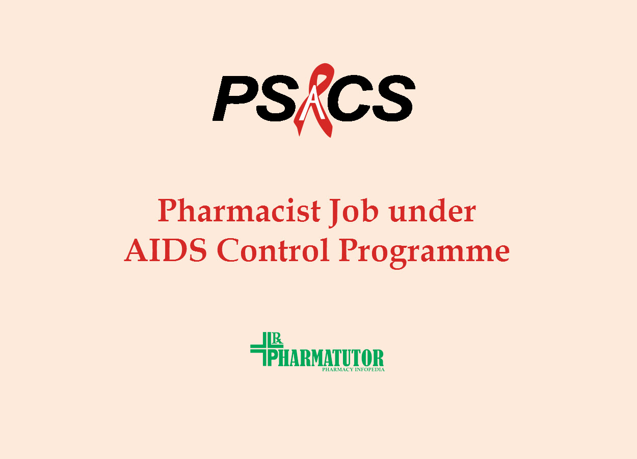 Job for Pharmacist under National AIDS Control Programme