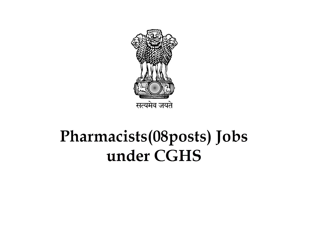 Job for Pharmacists under CGHS