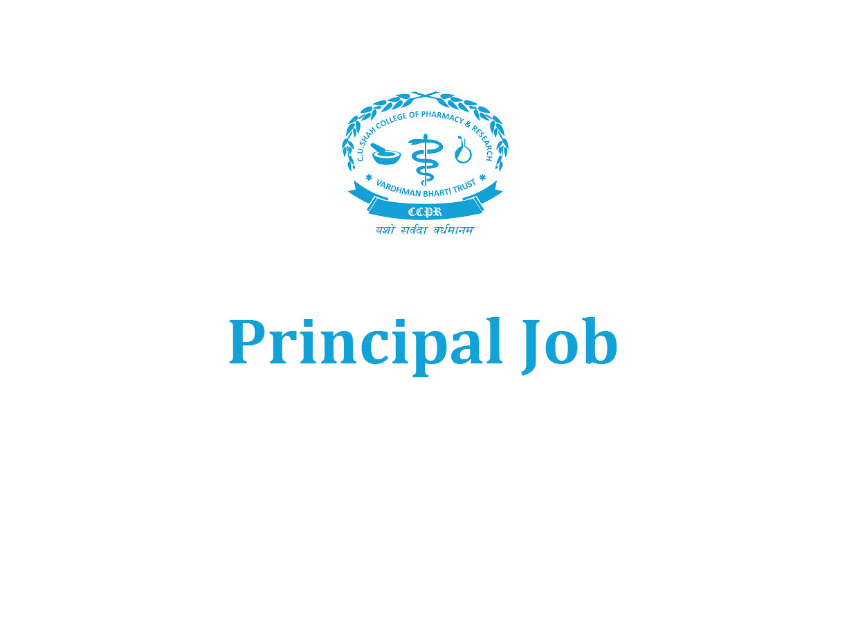 Applications are invited for the post of Principal at C. U. Shah College of Pharmacy & Research