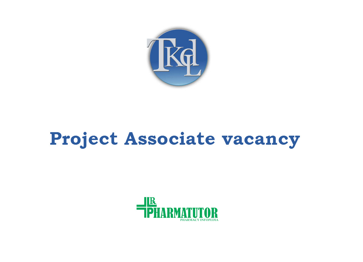 Applications are invited for the post of Project Associate at TKDL