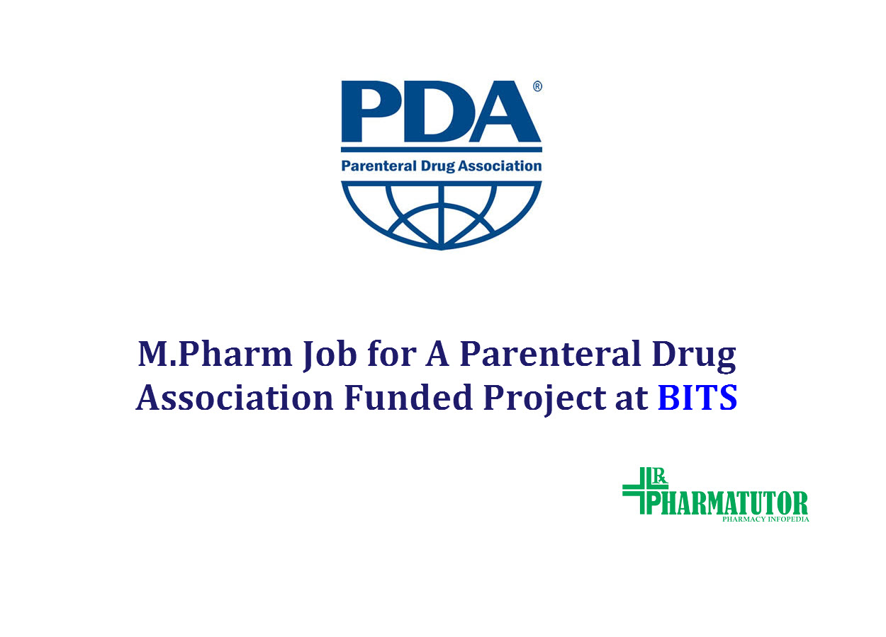 Job for Project Fellow for A Parenteral Drug Association Funded Project