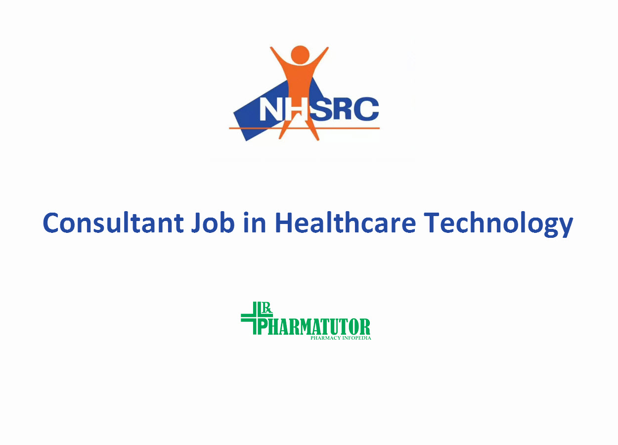 Applications are invited for the post of Consultant at NHSRC