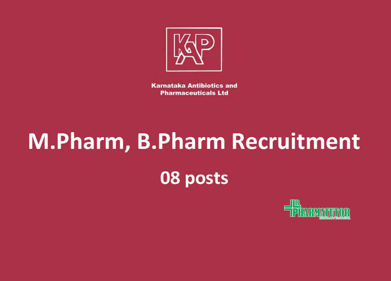 Job Openings for M.Pharm, B.Pharm in Production at KAPL