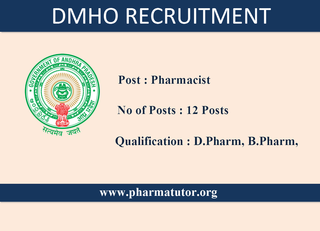 Job Openings for Pharmacists  in DMHO