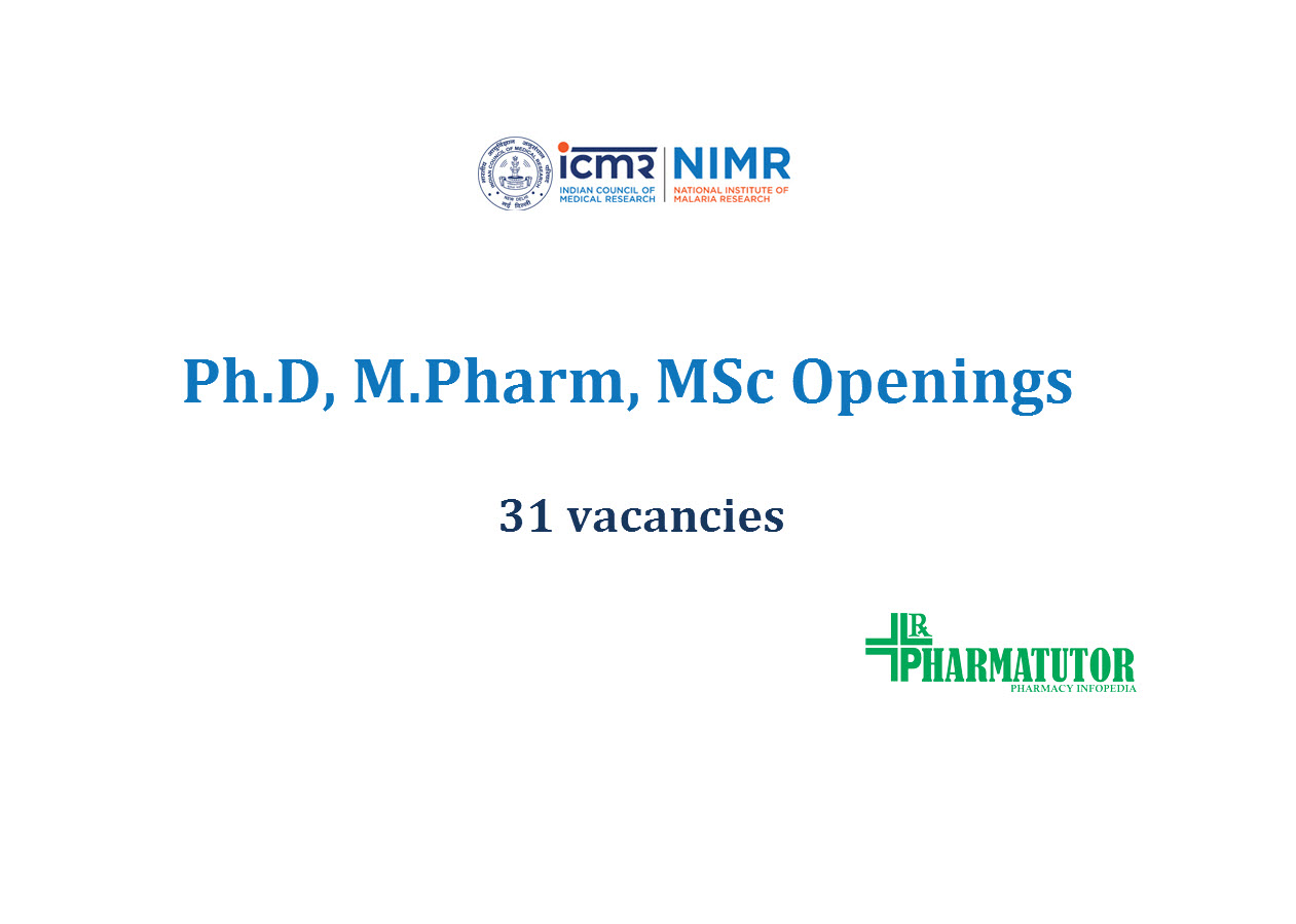 Job for Ph.D, M.Pharm, MSc in Research project at NIMR