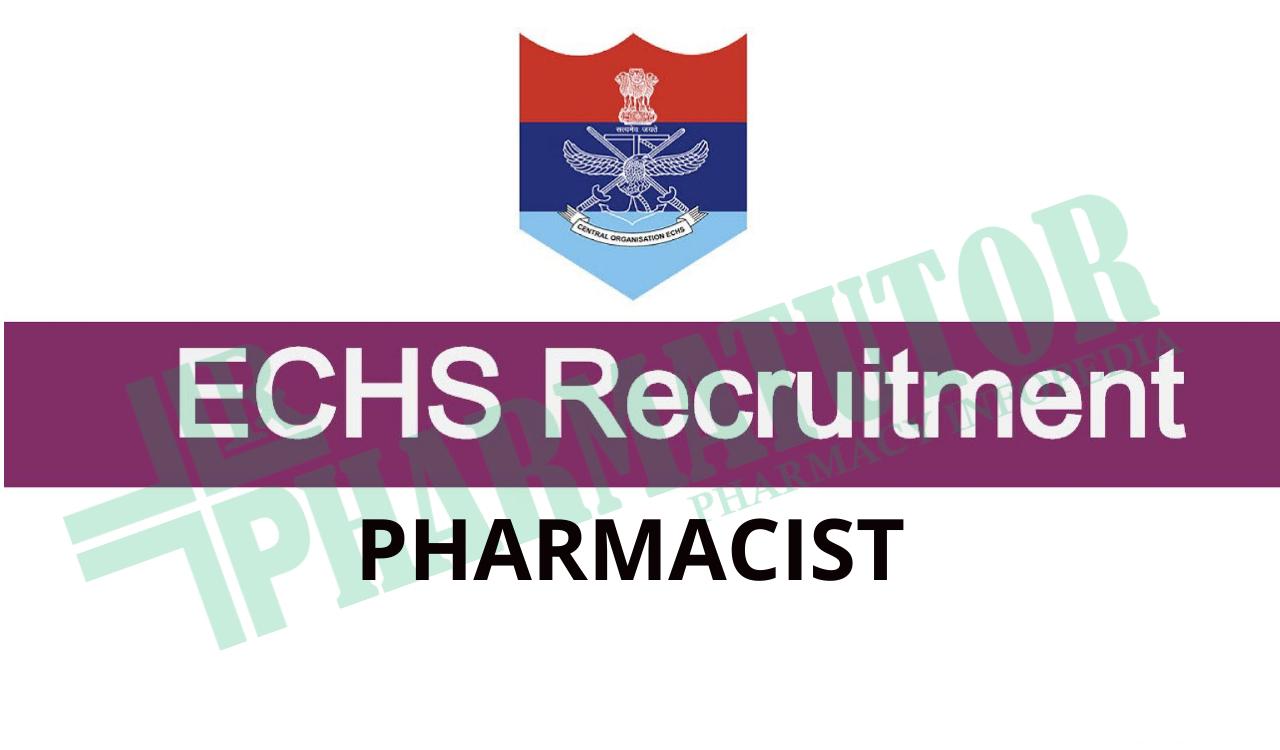 Job Opening for Pharmacist under ECHS, Goa