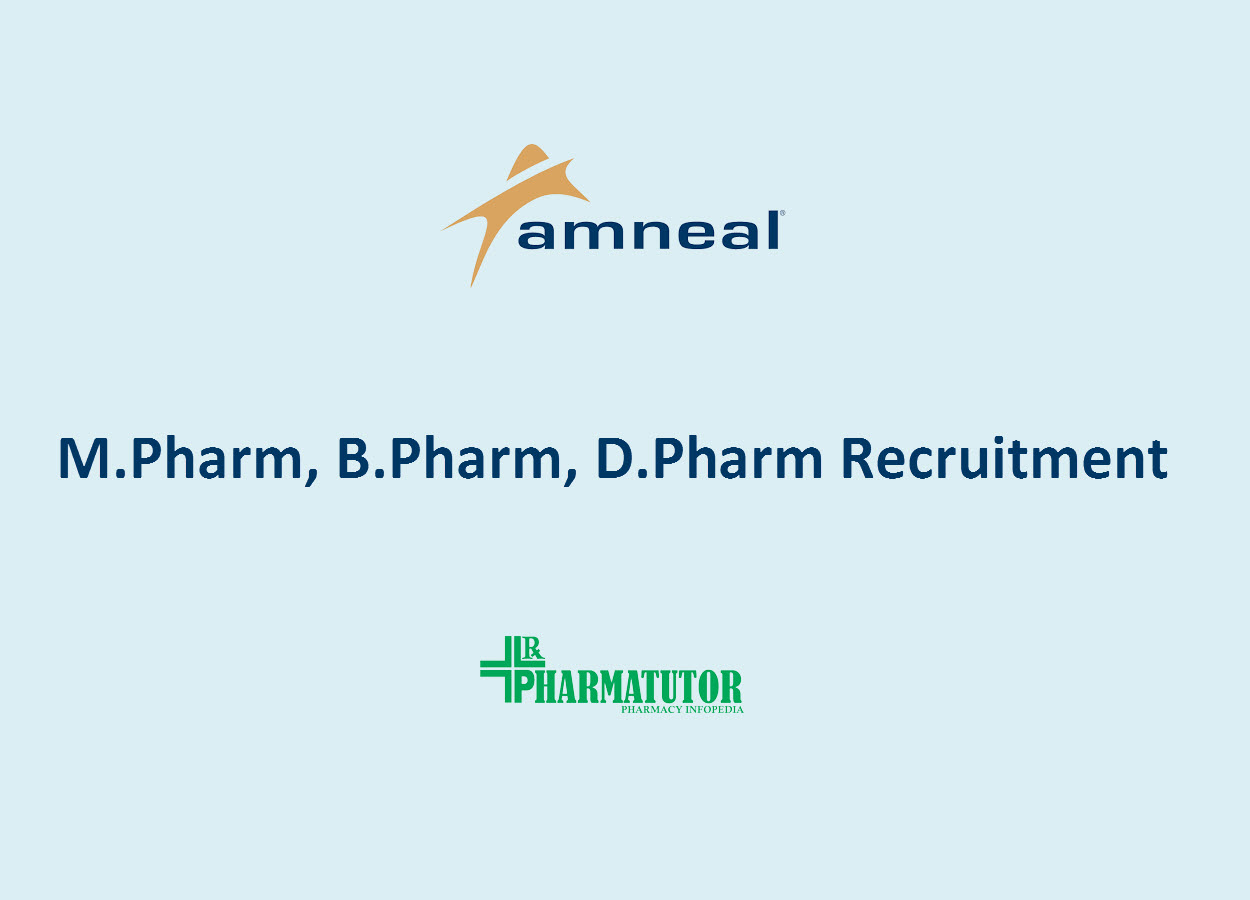 Job for M.Pharm, B.Pharm, D.Pharm at Amneal Pharmaceuticals