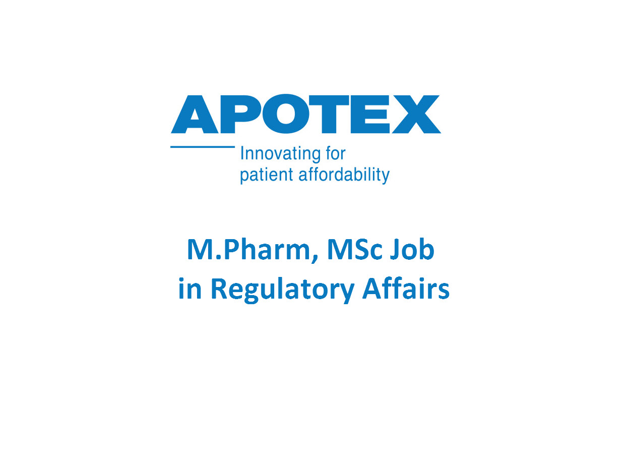 mpharm msc job in regulatory affairs at apotex