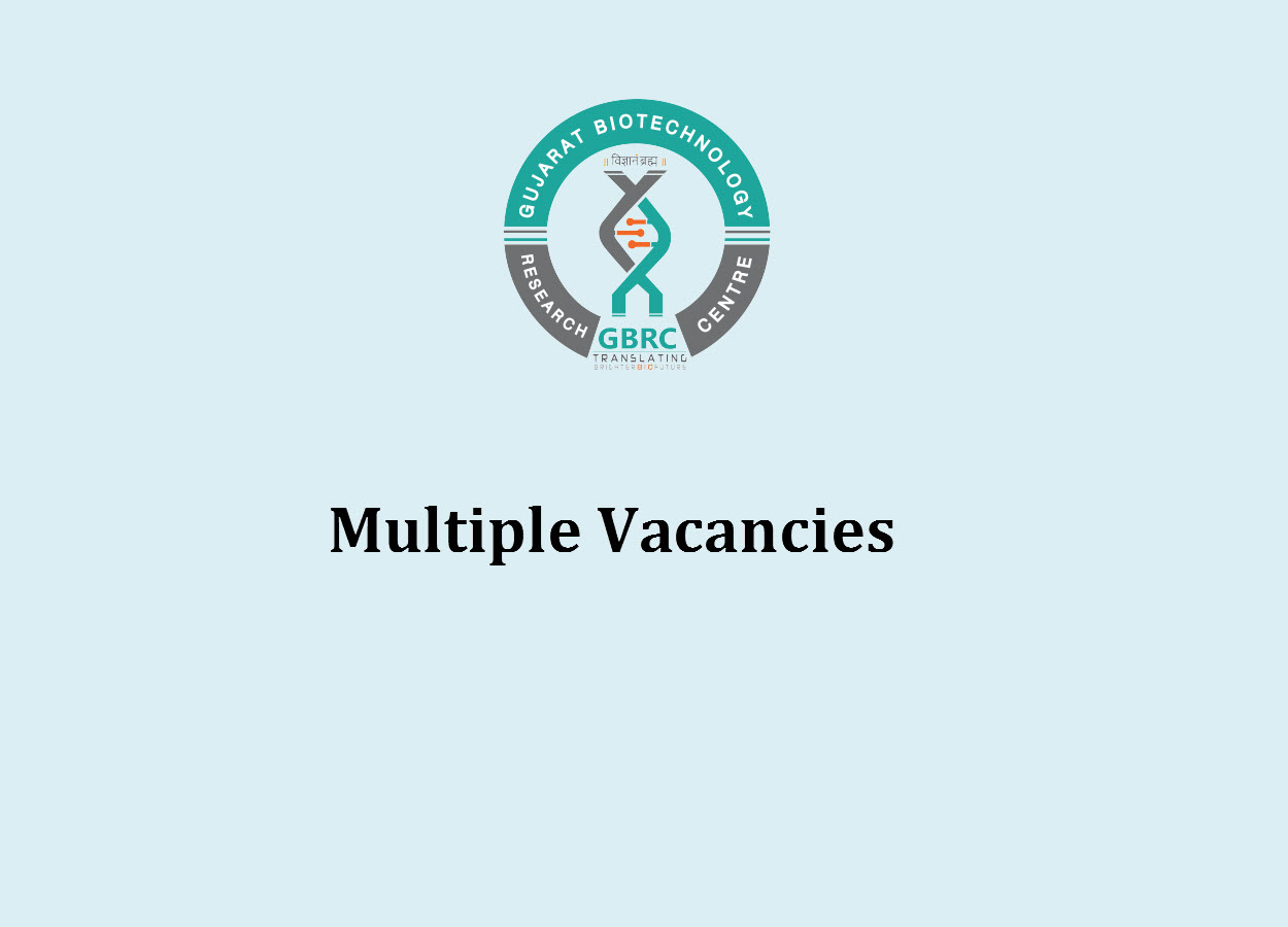 Multiple Vacancies in Gujarat Biotechnology Research Center