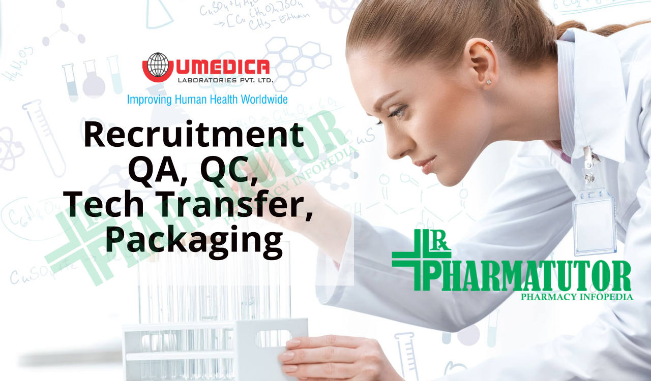 Multiple Vacancies in QA, QC, Packaging Development and Technology Transfer