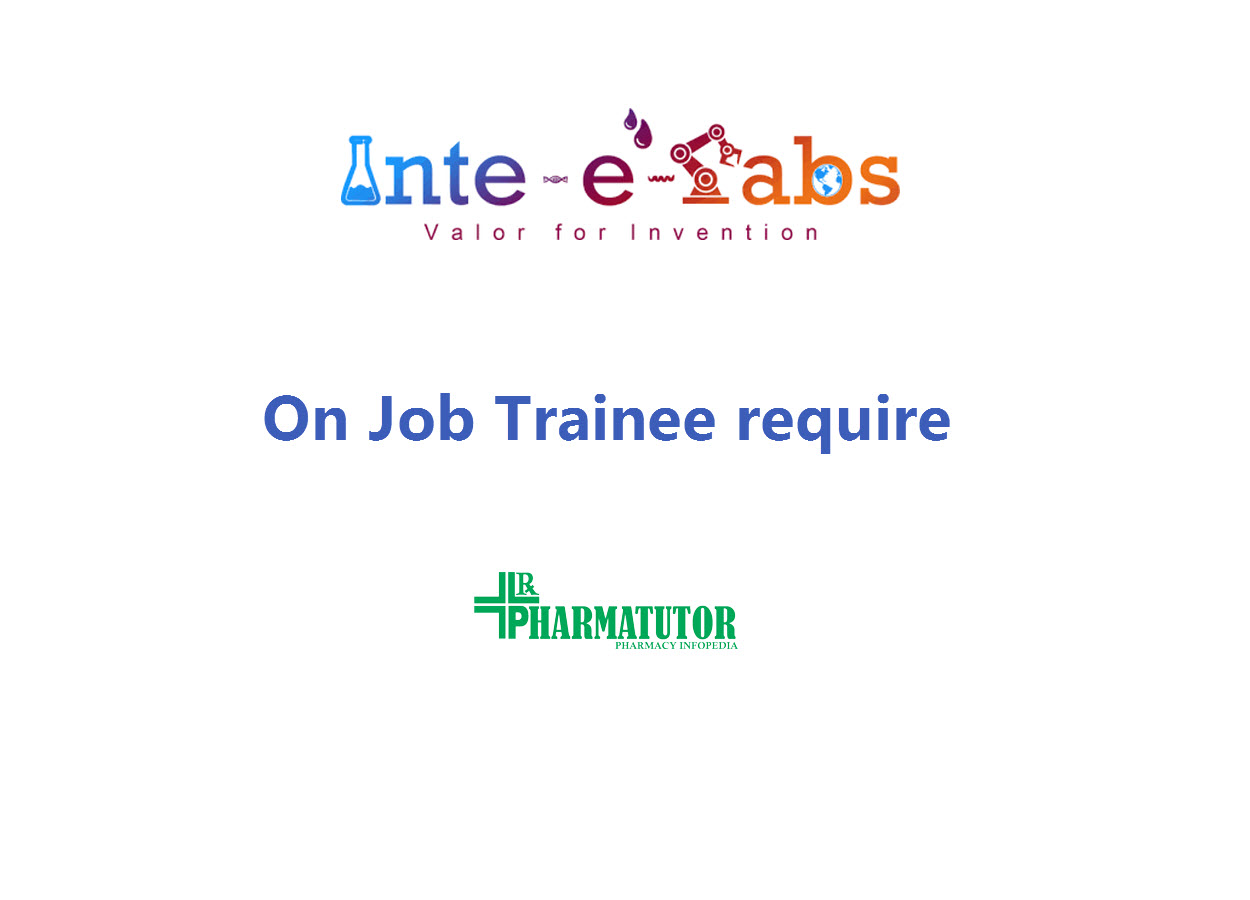 On Job Trainee require at Inte-e-labs Pvt Ltd