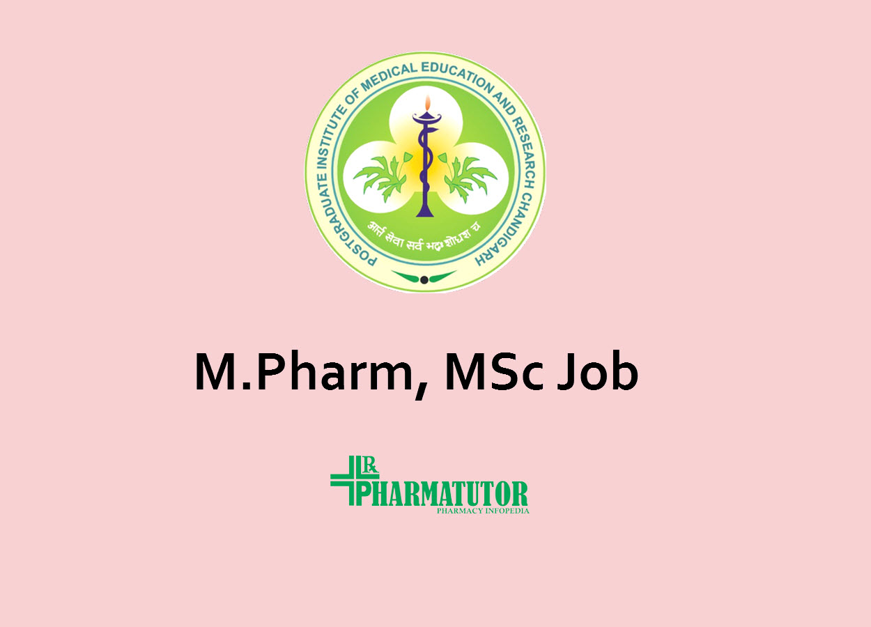 Opportunity for M.Pharm, MSc as Senior Research Fellow at PGIMER