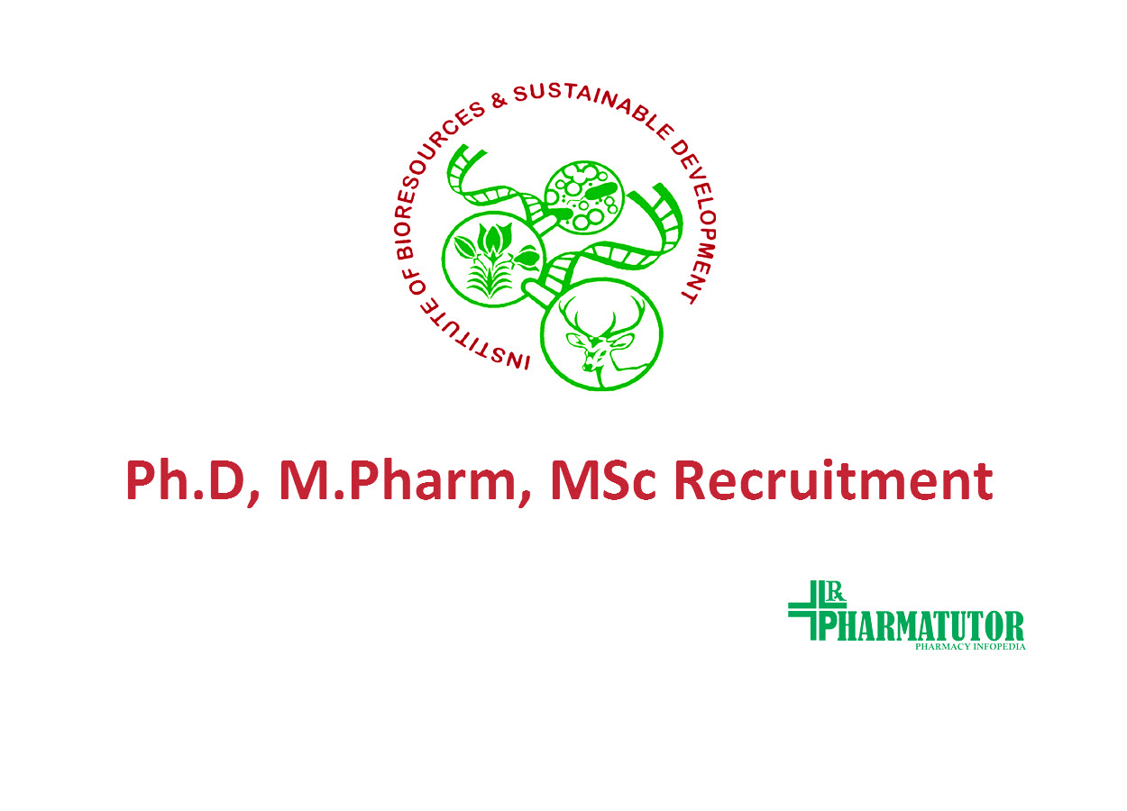 Opportunity for Ph.D, M.Pharm as Research Associate at IBSD