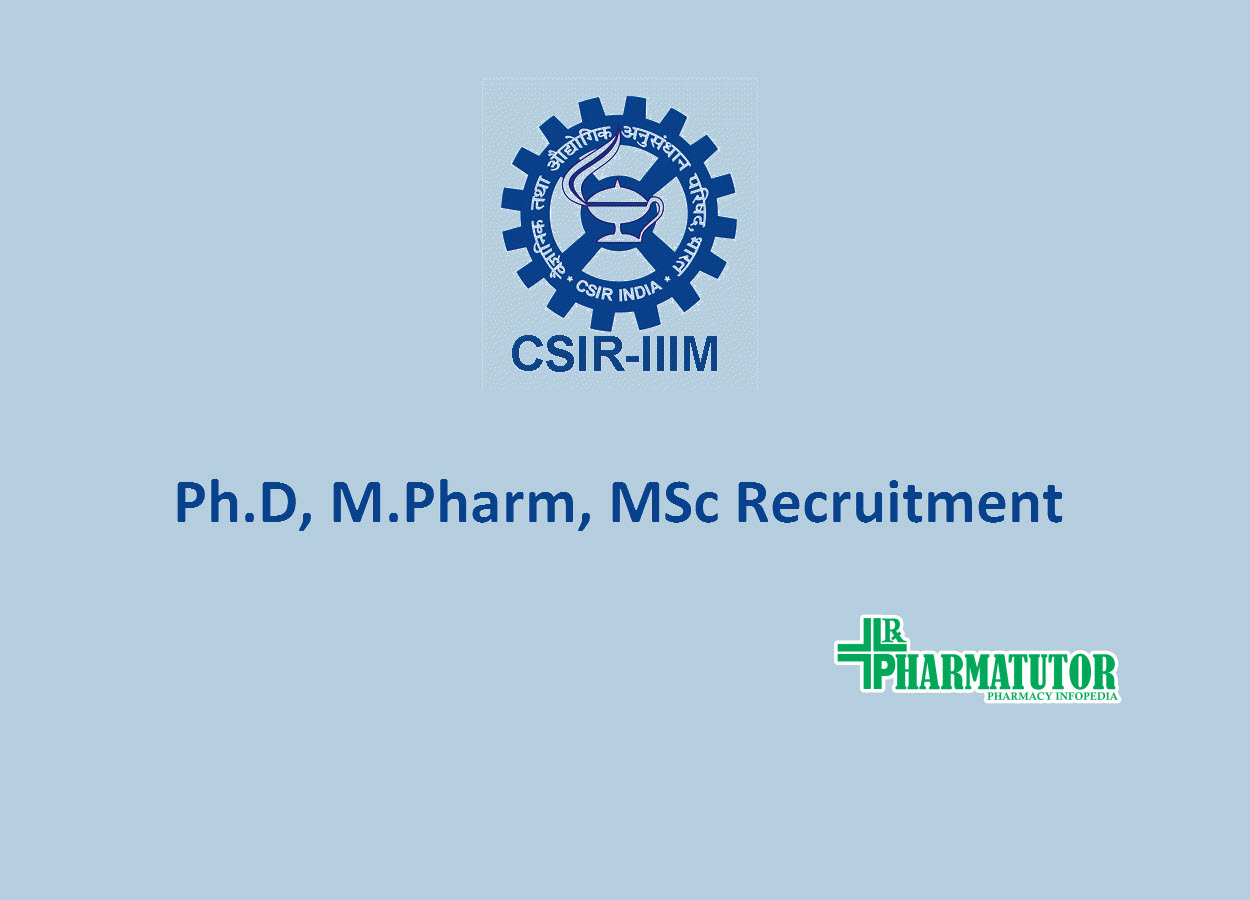 Ph.D, M.Pharm, MSc Jobs at Indian Institute of Integrative Medicine