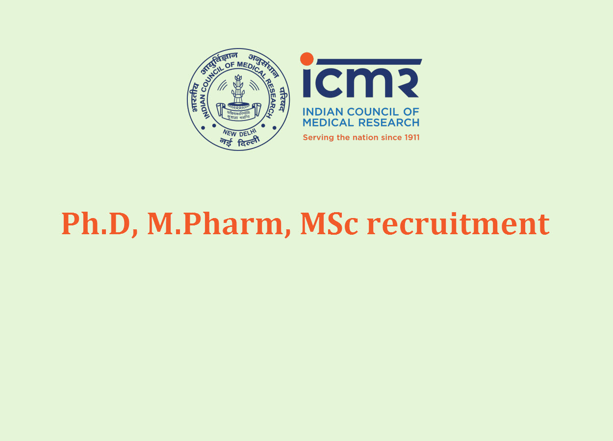 Ph.D, M.Pharm, MSc recruitment under various TB projects