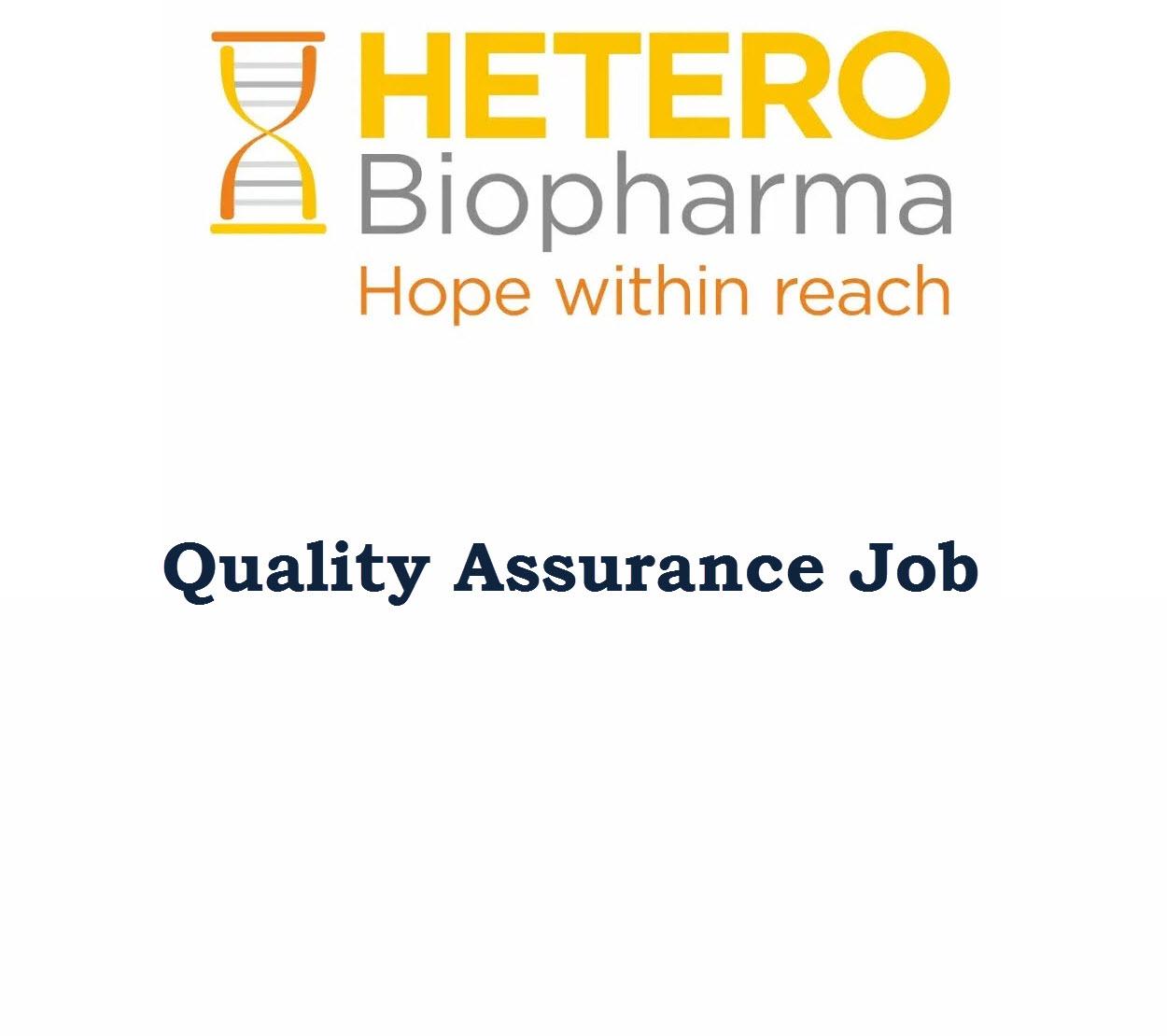 Quality Assurance Job at Hetero Biopharma