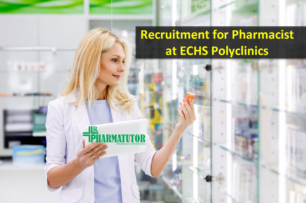 Recruitment for Pharmacist at ECHS Polyclinics