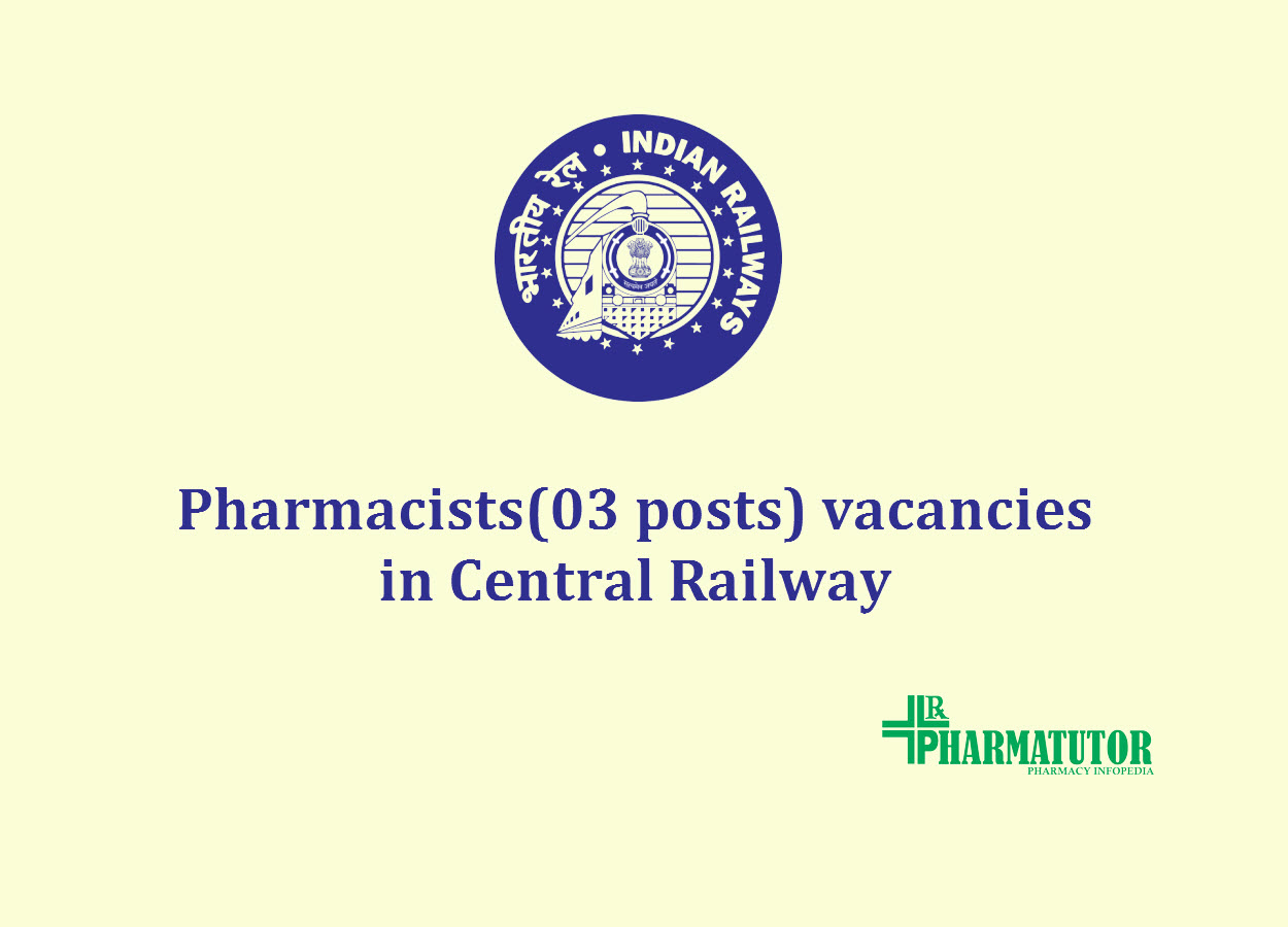 recruitment for pharmacistsi n central-railway