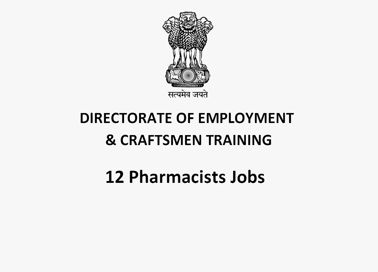 Recruitment for Pharmacists(12 posts) in DECT
