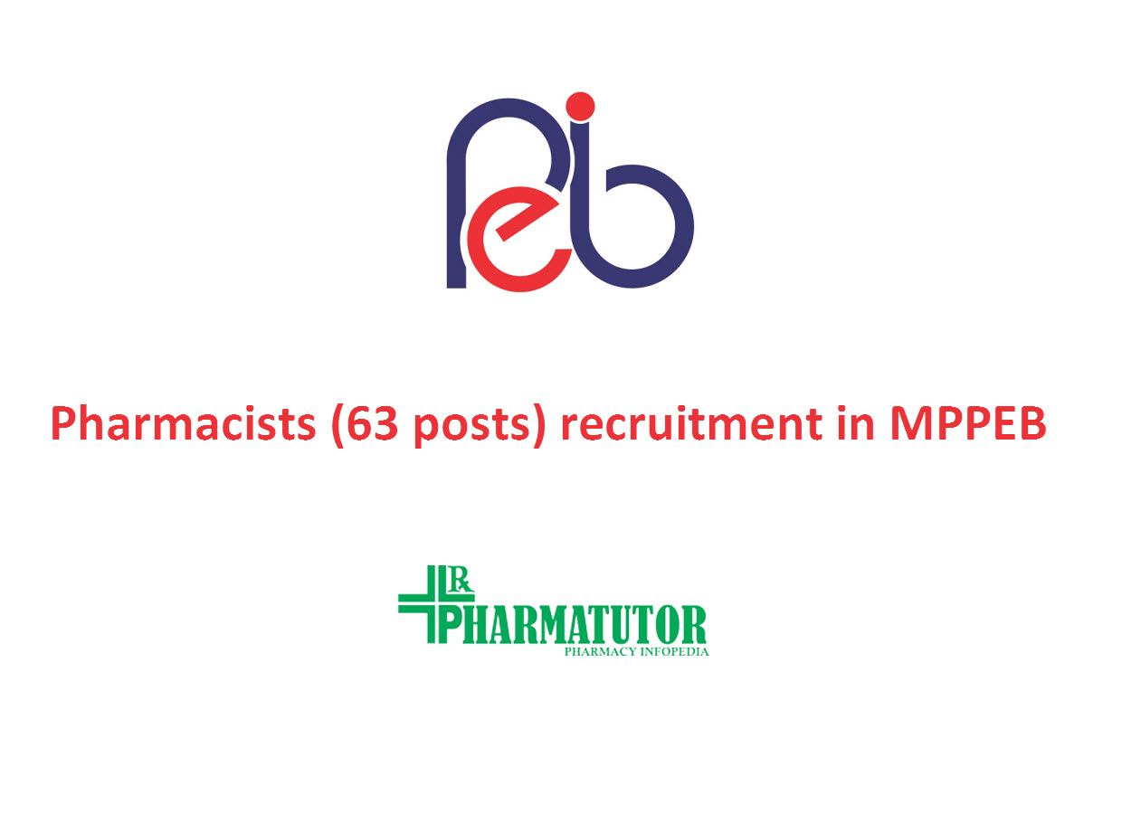 Recruitment for Pharmacists (63 posts) in MPPEB | Government Jobs
