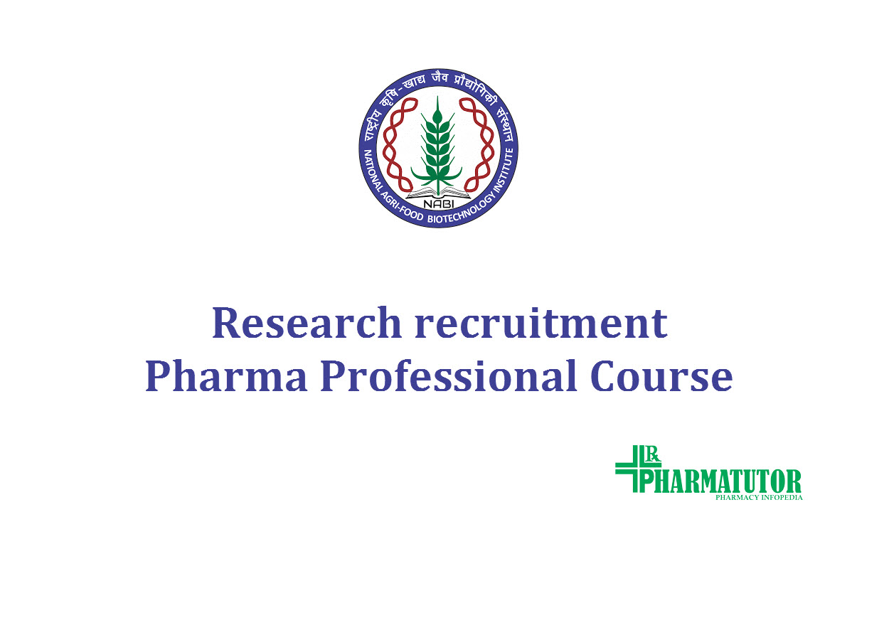 Research recruitment in Food and nutritional Biotechnology division at NABI