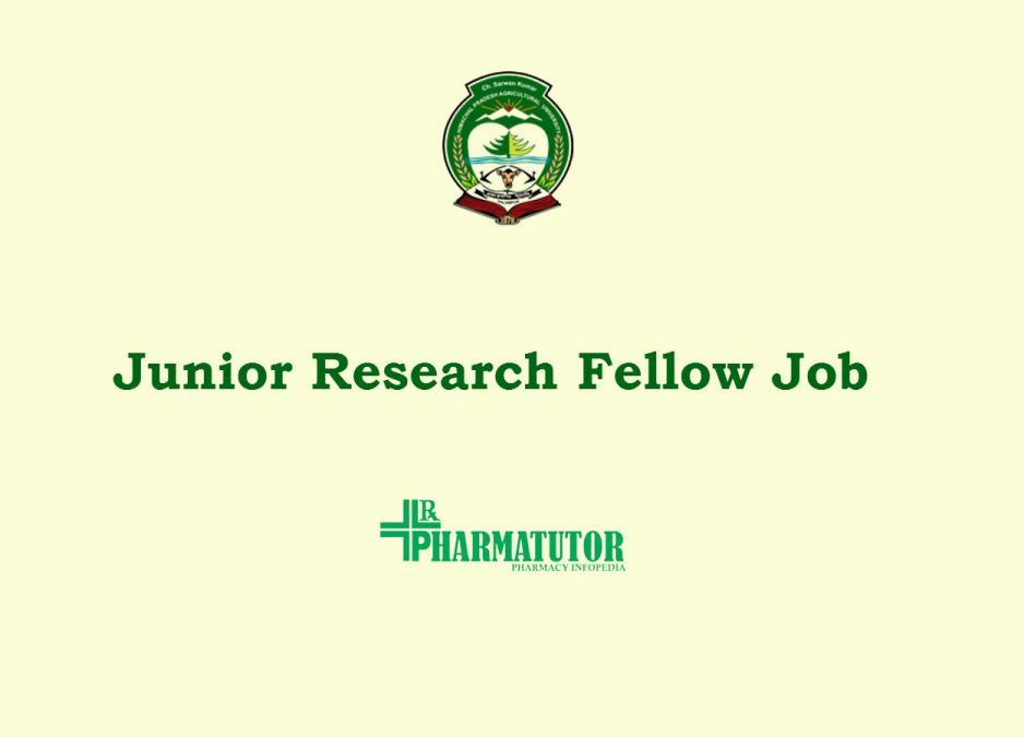 Fellowship jobs in Himachal Pradesh 2021 - Apply Online , Vacancy