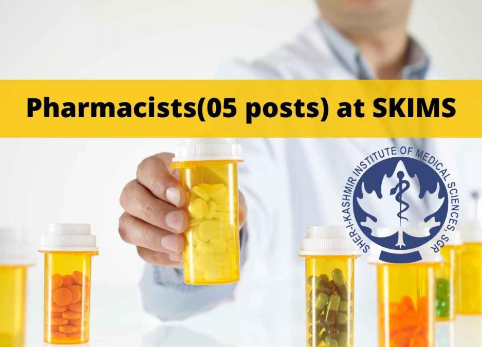 Online applications are invited for post of Pharmacists at SKIMS