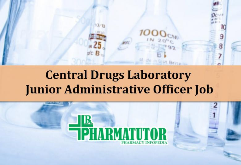 Jr. Administrative Officer at Central Drugs Laboratory