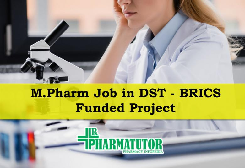 Post of Senior Research Fellow in DST – BRICS Funded Project