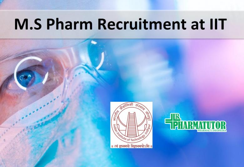 Pharma project job at Indian Institute of Technology