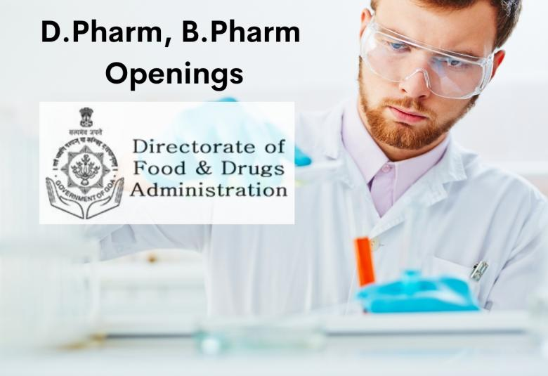 Job Openings for D.Pharm, B.Pharm in Directorate of Food and Drugs Administration