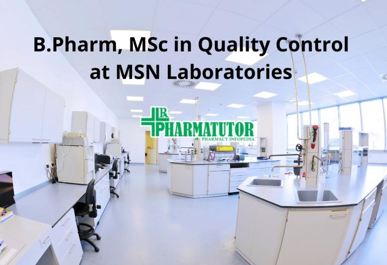 MSN Laboratories Pvt Ltd Jobs