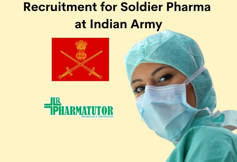 Recruitment for Soldier Pharma at Indian Army