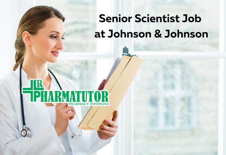 Require Senior Scientist Toxicology Clinical Safety at Johnson & Johnson