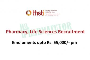 THSTI Pharmacy, Life Sciences recruitment - Clinical Research Associate Post